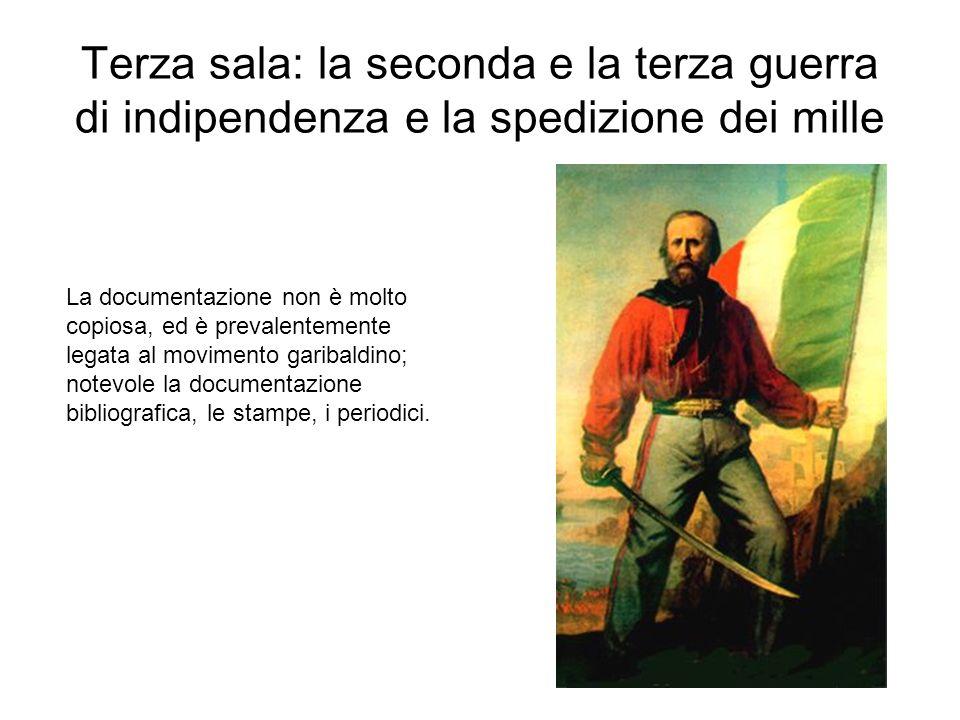 Buona parte della raccolta di questa sala riguarda l insurrezione di Vicenza (marzo-giugno 1848), con il lungo assedio che le valse la medaglia doro.