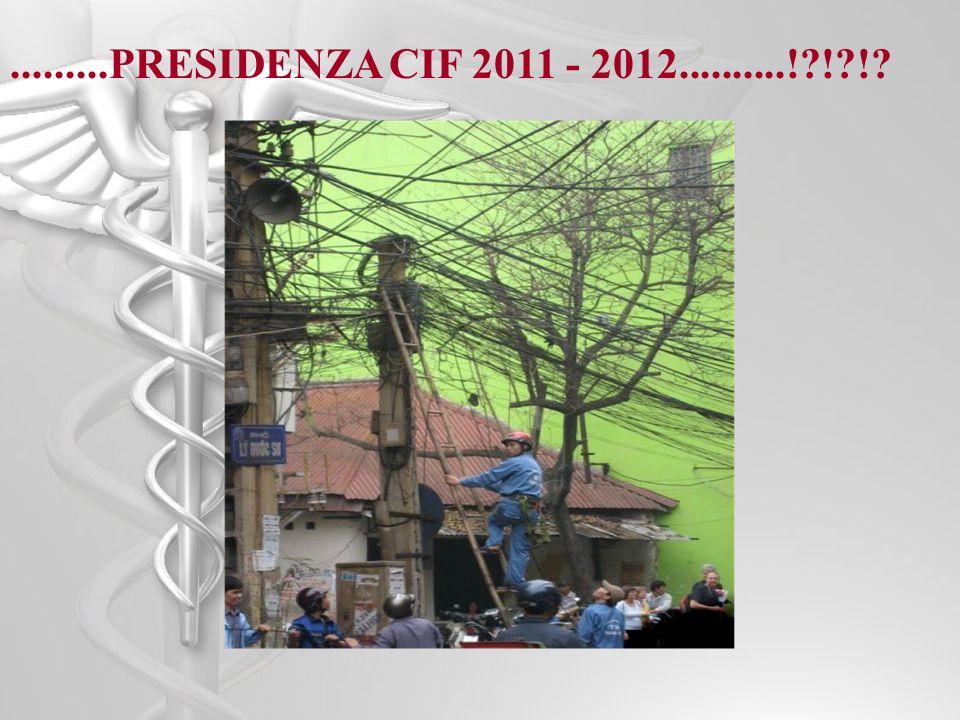 .........PRESIDENZA CIF 2011 - 2012..........!?!?!?