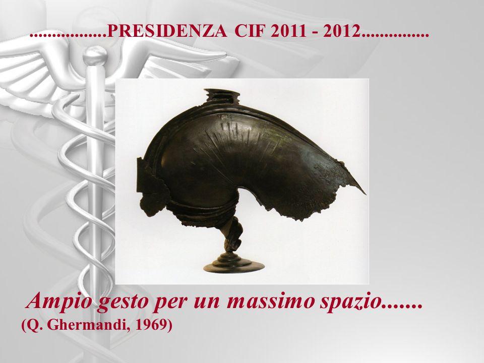 .................PRESIDENZA CIF 2011 - 2012............... Ampio gesto per un massimo spazio....... (Q. Ghermandi, 1969)