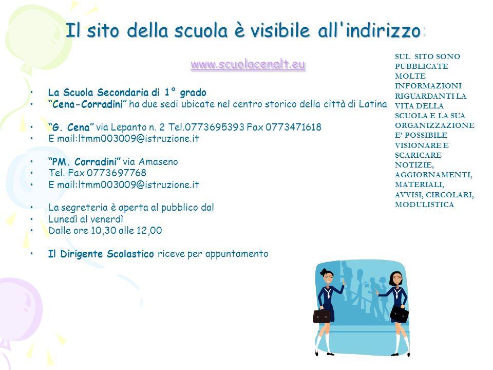 Il sito della scuola è visibile all'indirizzo: www.scuolacenalt.eu www.scuolacenalt.eu SUL SITO SONO PUBBLICATE MOLTE INFORMAZIONI RIGUARDANTI LA VITA