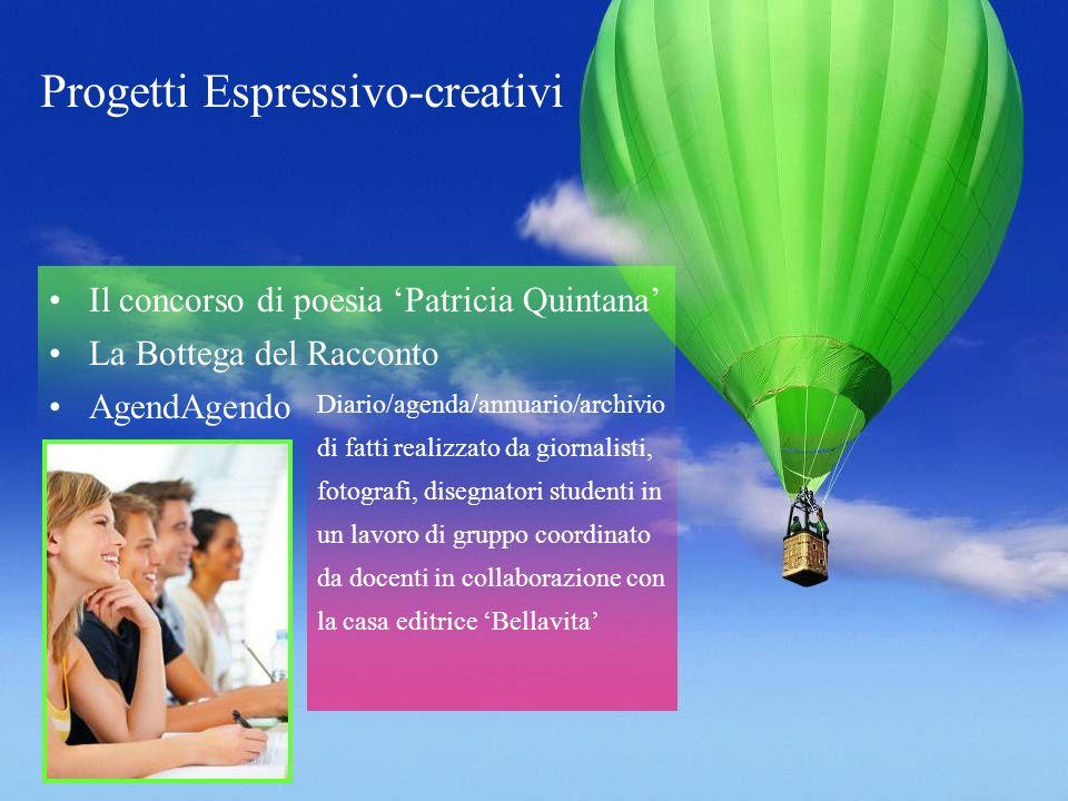 Progetti Espressivo-creativi Il concorso di poesia Patricia Quintana La Bottega del Racconto AgendAgendo Diario/agenda/annuario/archivio di fatti real