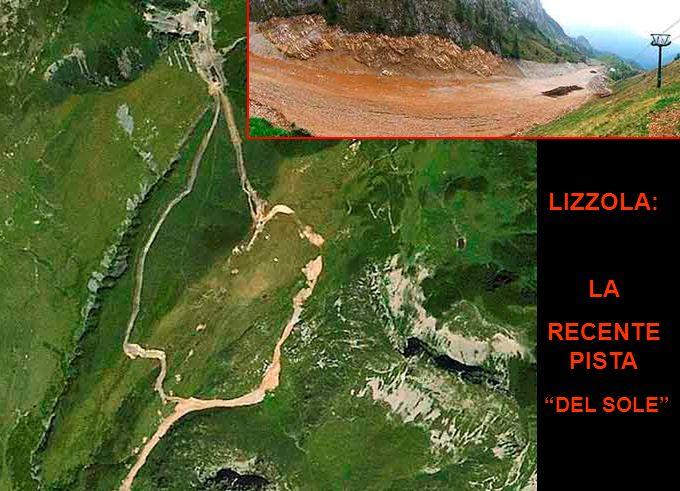 Il satellite registra: GROMO SPIAZZI e COLERE, oggi Z I e C O L E R E, O g g iI I