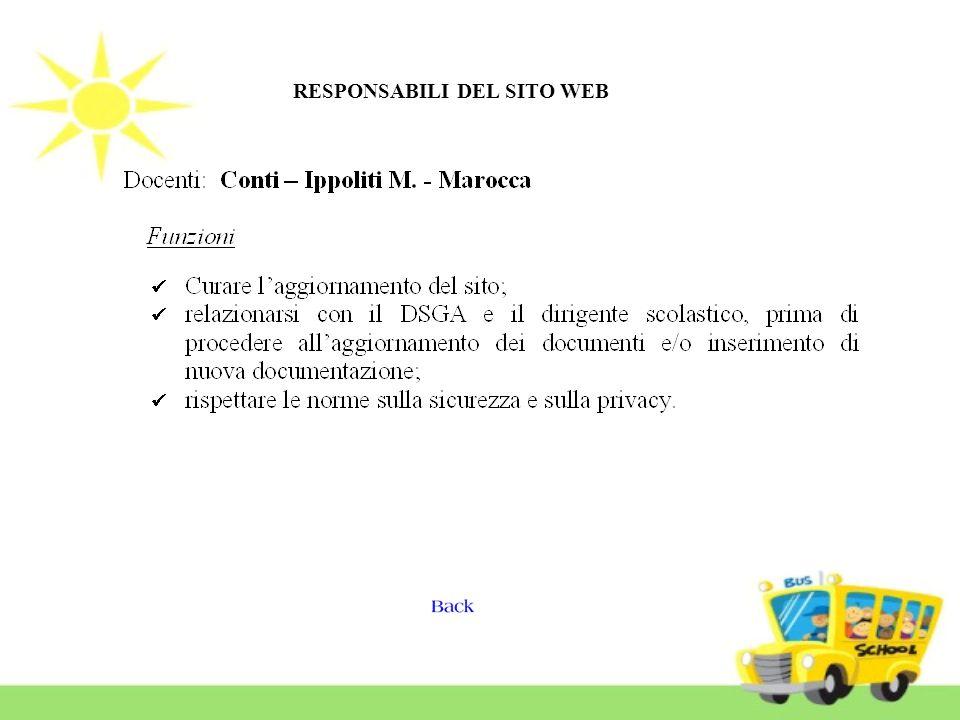 RESPONSABILI DEL SITO WEB