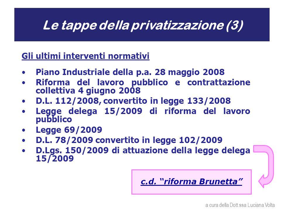 Gli ultimi interventi normativi Piano Industriale della p.a.