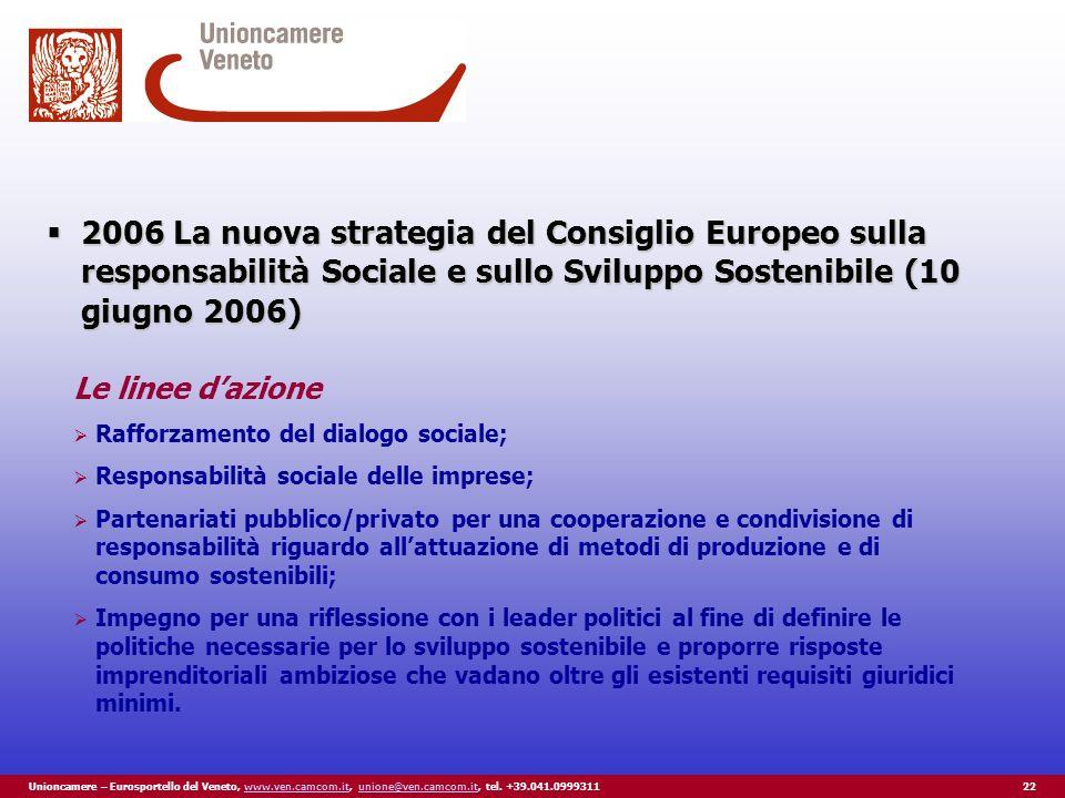Unioncamere – Eurosportello del Veneto, www.ven.camcom.it, unione@ven.camcom.it, tel.