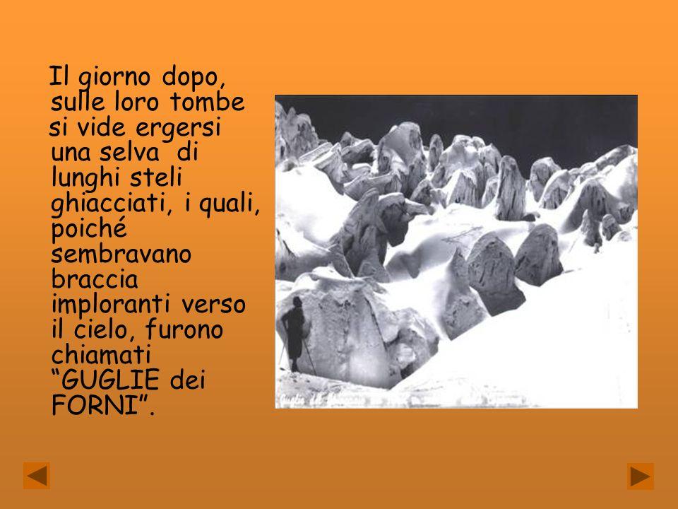 Il giorno dopo, sulle loro tombe si vide ergersi una selva di lunghi steli ghiacciati, i quali, poiché sembravano braccia imploranti verso il cielo, f
