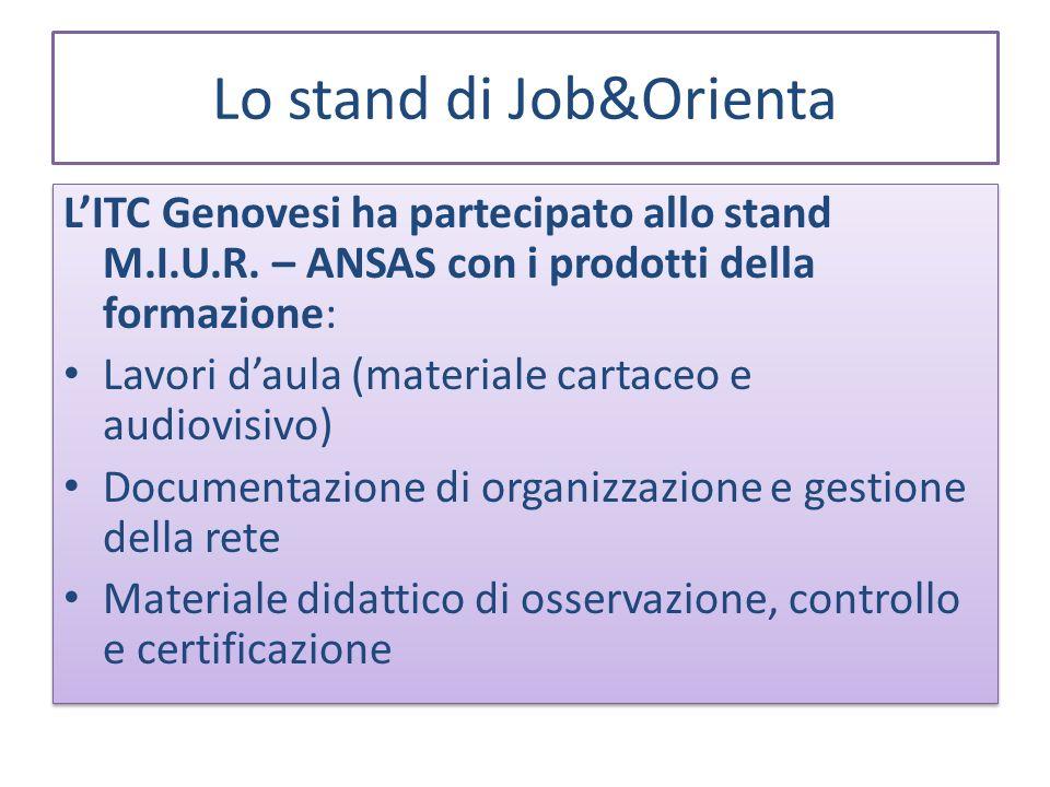 Lo stand di Job&Orienta LITC Genovesi ha partecipato allo stand M.I.U.R.