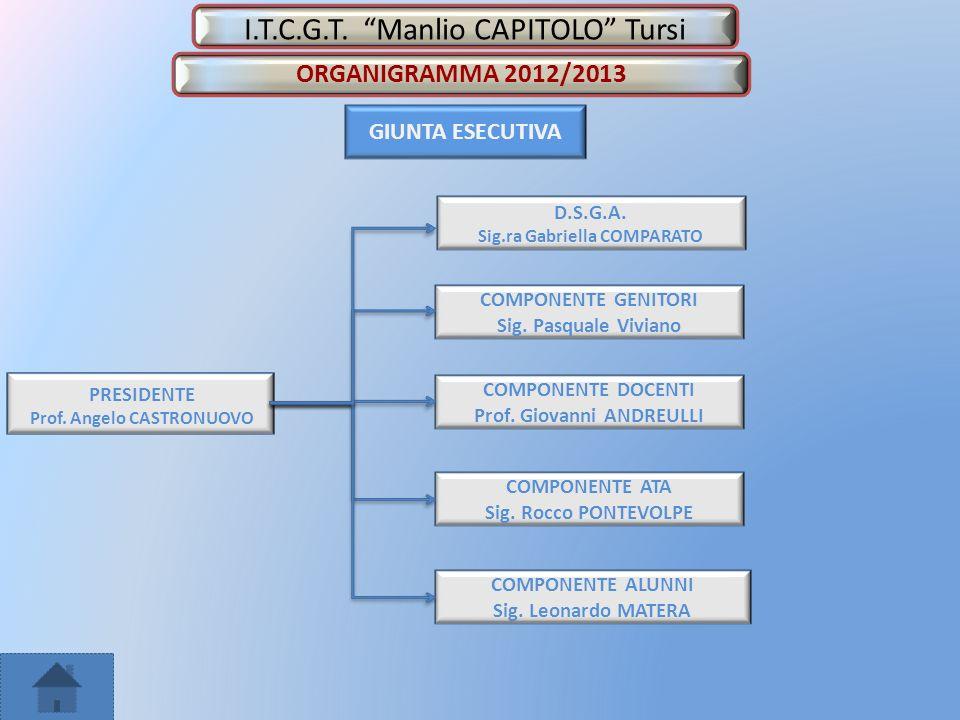 I.T.C.G.T.Manlio CAPITOLO Tursi GIUNTA ESECUTIVA COMPONENTE ALUNNI Sig.