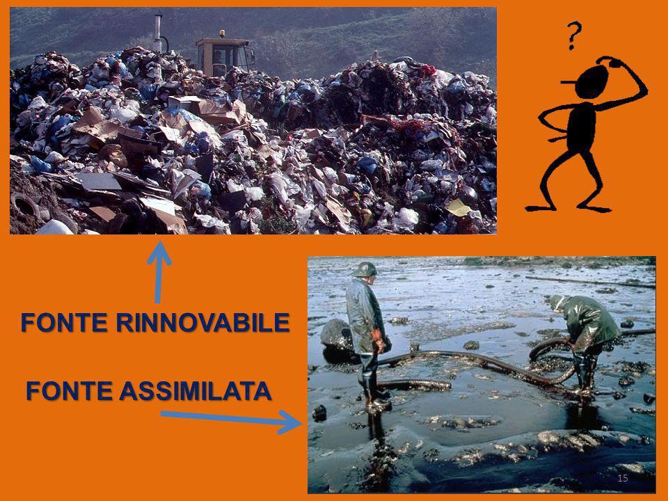 FONTE RINNOVABILE FONTE ASSIMILATA 15