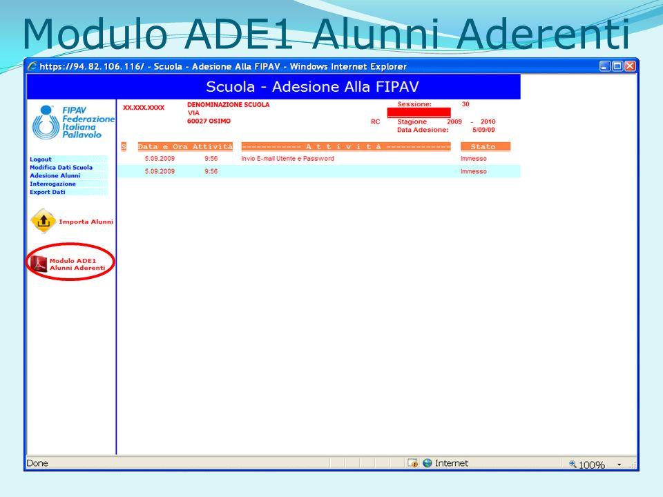 Modulo ADE1 Alunni Aderenti
