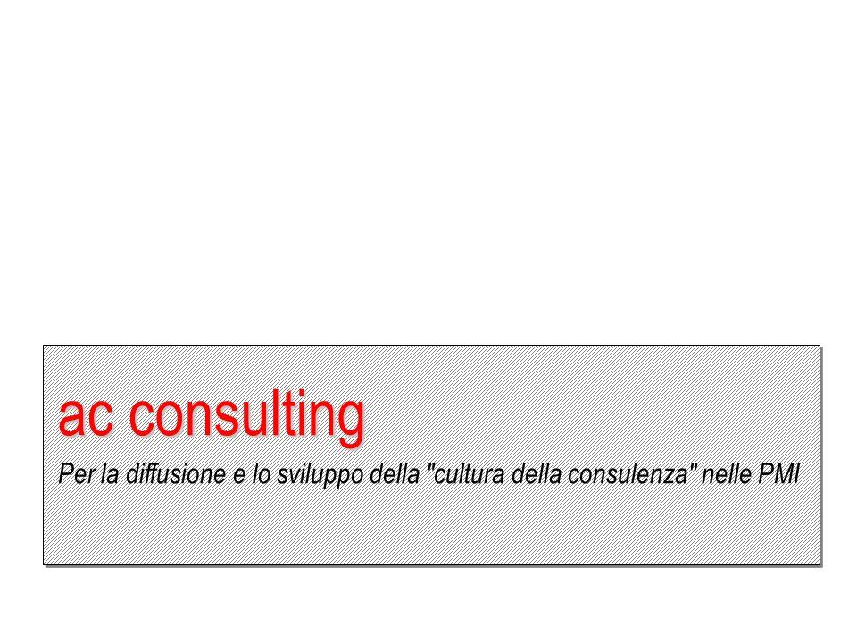 ac consulting Per la diffusione e lo sviluppo della cultura della consulenza nelle PMI