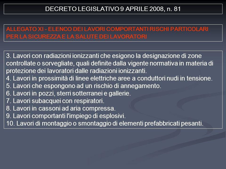 DECRETO LEGISLATIVO 9 APRILE 2008, n. 81 3.
