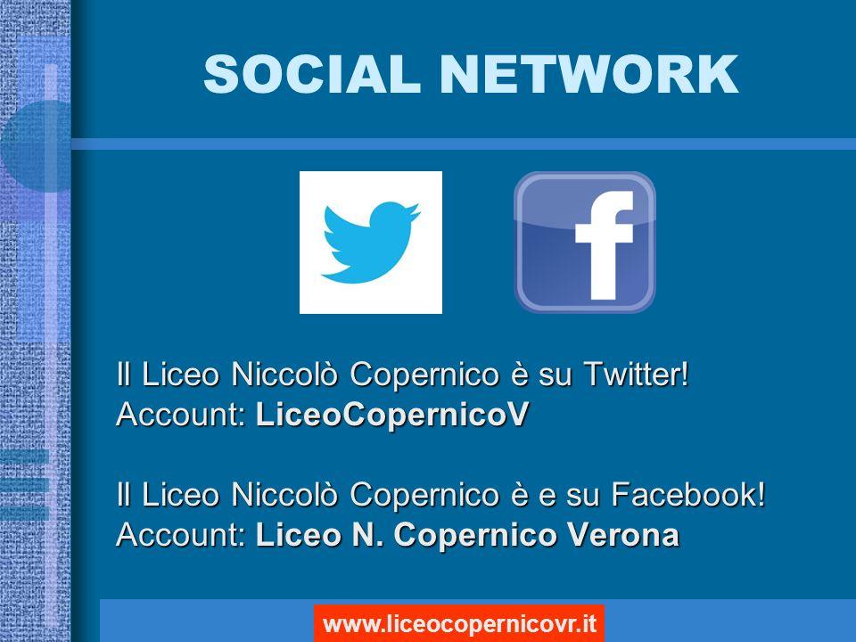 SOCIAL NETWORK Il Liceo Niccolò Copernico è su Twitter.