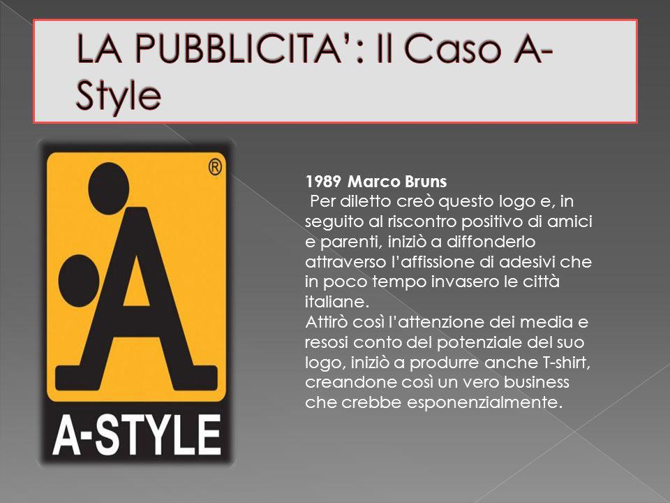 1989 Marco Bruns Per diletto creò questo logo e, in seguito al riscontro positivo di amici e parenti, iniziò a diffonderlo attraverso laffissione di adesivi che in poco tempo invasero le città italiane.
