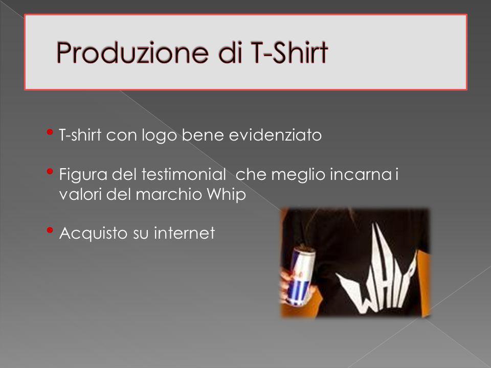 T-shirt con logo bene evidenziato Figura del testimonial che meglio incarna i valori del marchio Whip Acquisto su internet