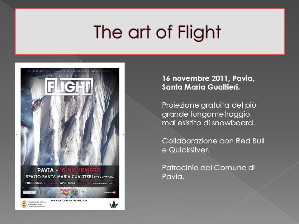 16 novembre 2011, Pavia, Santa Maria Gualtieri. Proiezione gratuita del più grande lungometraggio mai esistito di snowboard. Collaborazione con Red Bu