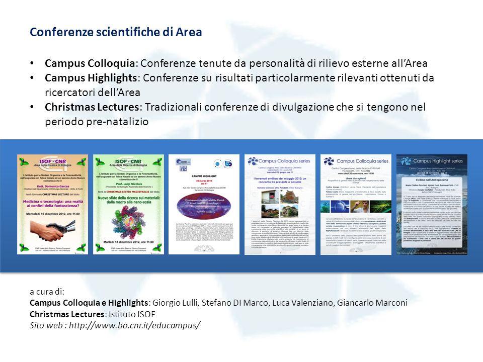 Alcuni eventi realizzati dalla Commissione Divulgazione negli ultimi anni Everyday Science 2010.