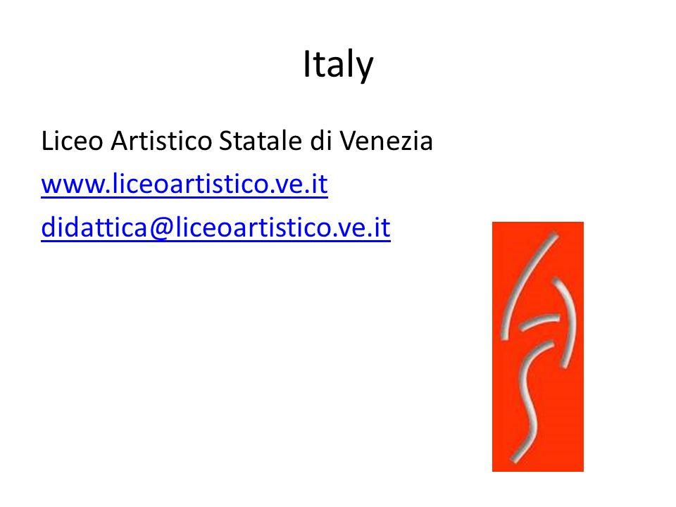 Italy Liceo Artistico Statale di Venezia www.liceoartistico.ve.it didattica@liceoartistico.ve.it