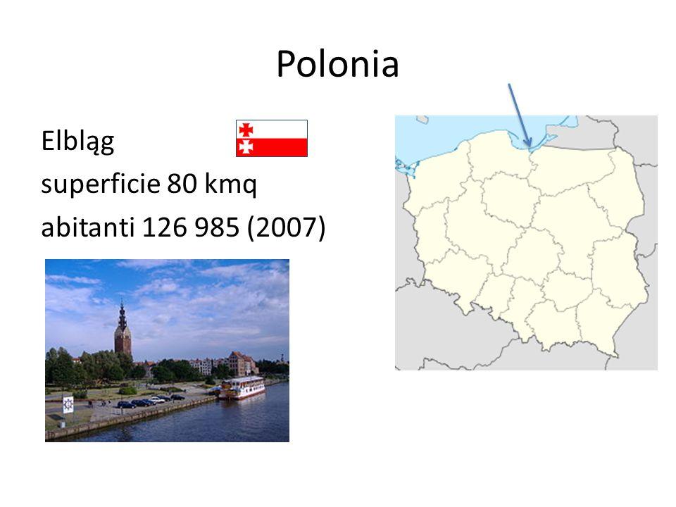 Polonia Elbląg superficie 80 kmq abitanti 126 985 (2007)