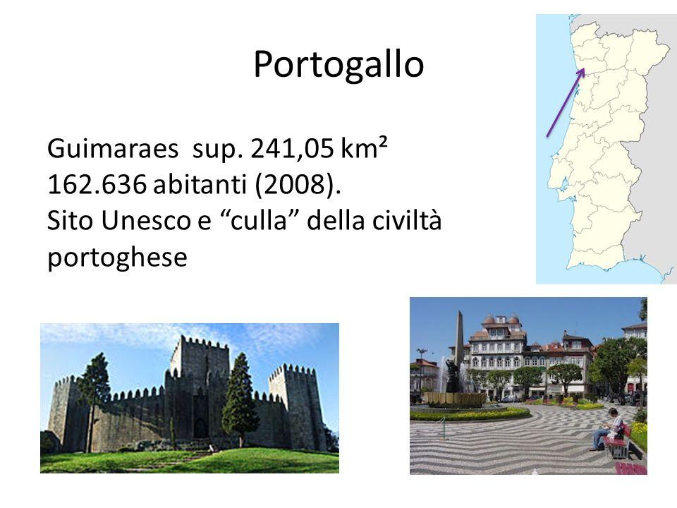 Portogallo Guimaraes sup. 241,05 km² 162.636 abitanti (2008).