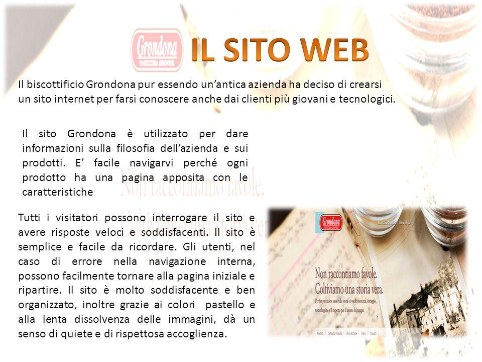 Il biscottificio Grondona pur essendo unantica azienda ha deciso di crearsi un sito internet per farsi conoscere anche dai clienti più giovani e tecnologici.