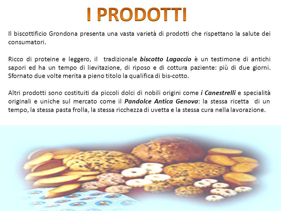 Il biscottificio Grondona presenta una vasta varietà di prodotti che rispettano la salute dei consumatori.