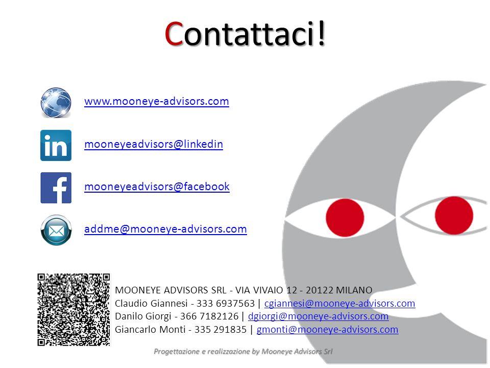Contattaci! Progettazione e realizzazione by Mooneye Advisors Srl MOONEYE ADVISORS SRL - VIA VIVAIO 12 - 20122 MILANO Claudio Giannesi - 333 6937563 |
