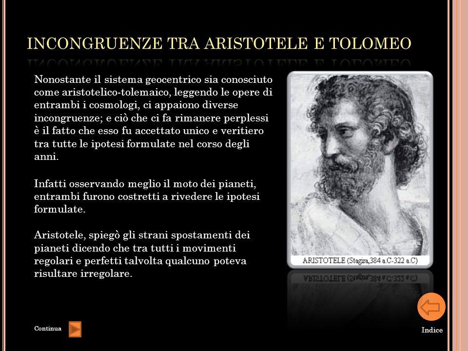 Nonostante il sistema geocentrico sia conosciuto come aristotelico-tolemaico, leggendo le opere di entrambi i cosmologi, ci appaiono diverse incongrue