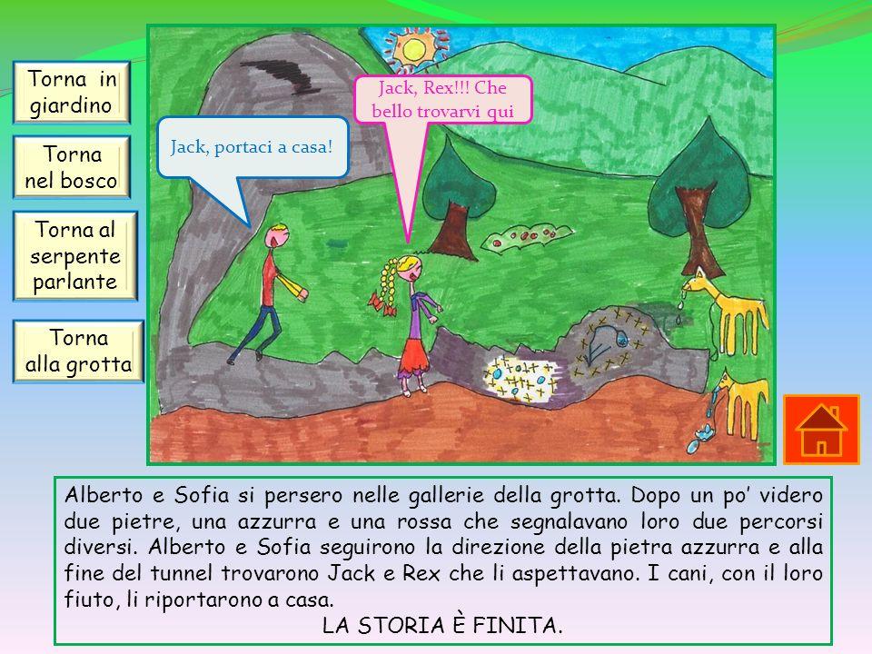 Alberto e Sofia si persero nelle gallerie della grotta. Dopo un po videro due pietre, una azzurra e una rossa che segnalavano loro due percorsi divers