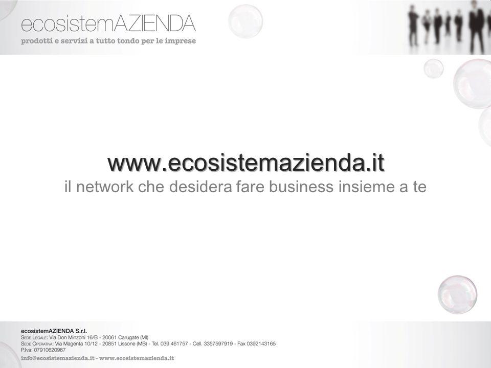 www.ecosistemazienda.it il network che desidera fare business insieme a te