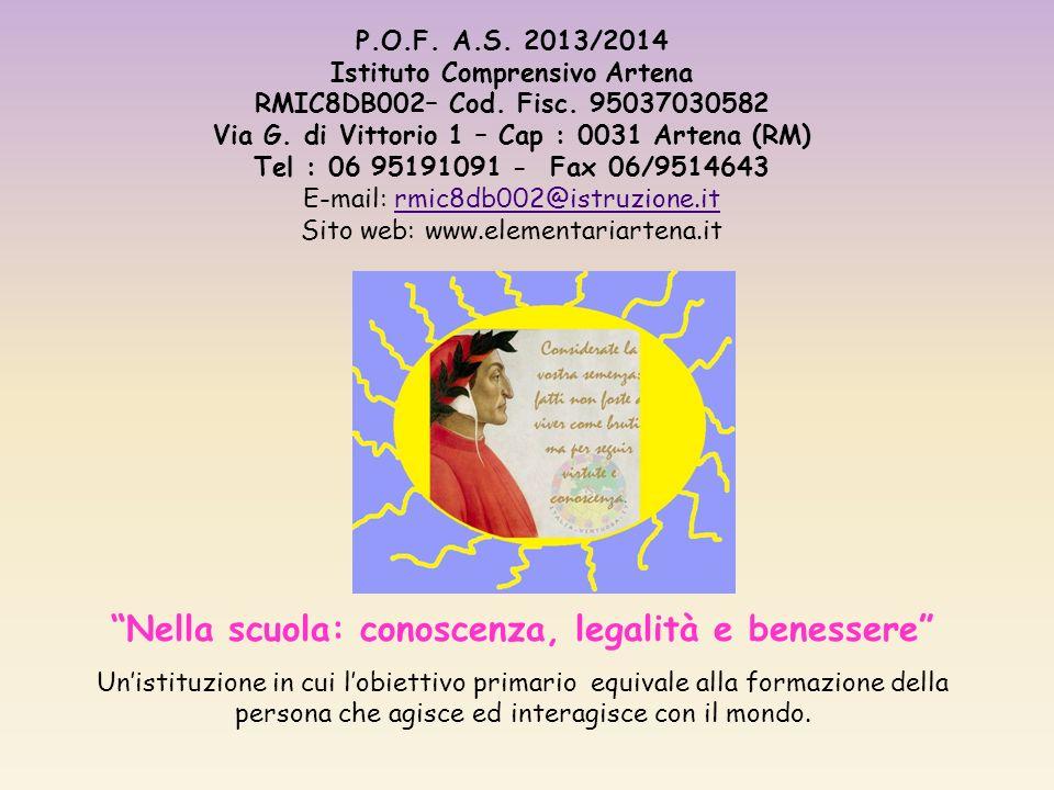 P.O.F.A.S. 2013/2014 Istituto Comprensivo Artena RMIC8DB002– Cod.