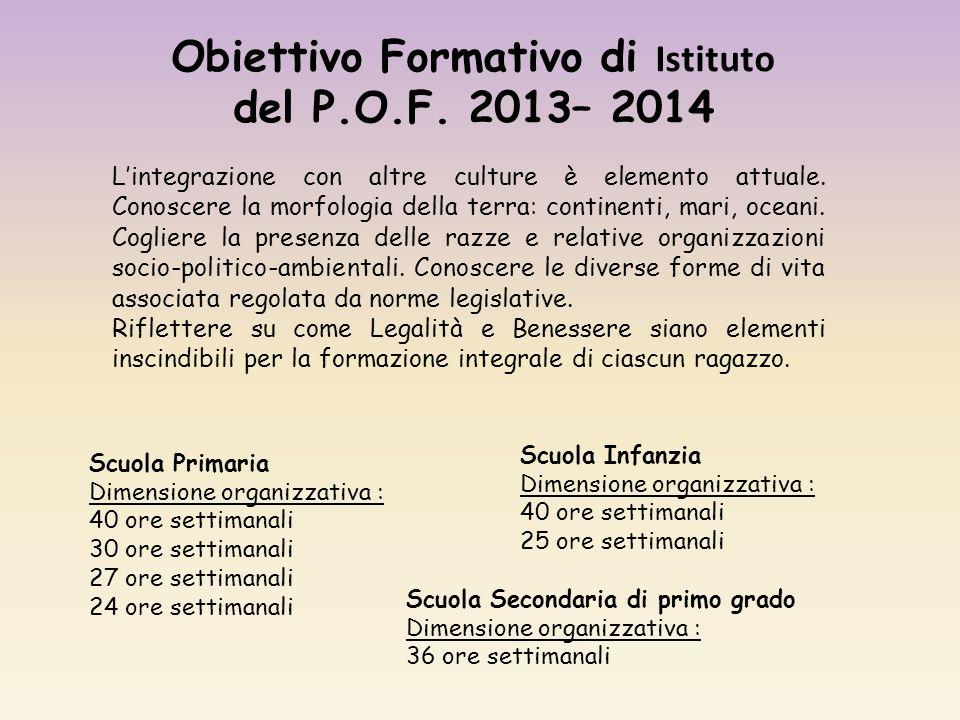 Obiettivo Formativo di Istituto del P.O.F.