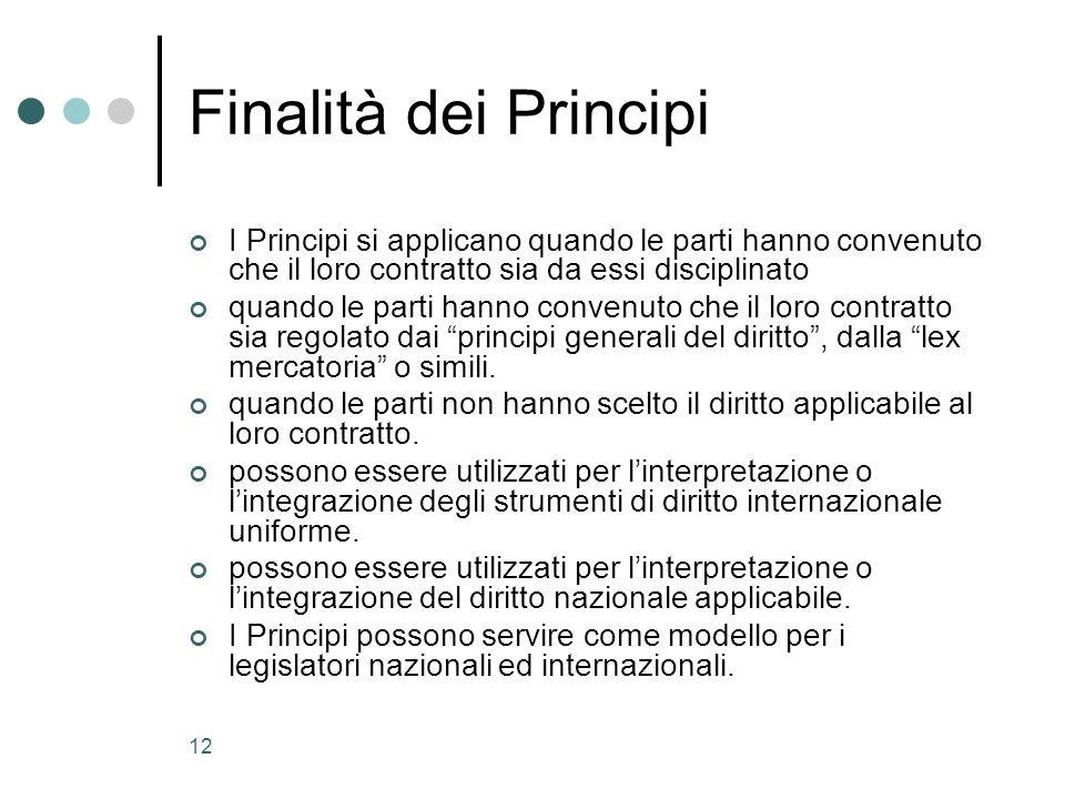 13 Principi Unidroit dei Contratti Commerciali Internazionali 2004 – II Edizione Applicazione www.unidroit.org www.unilex.info