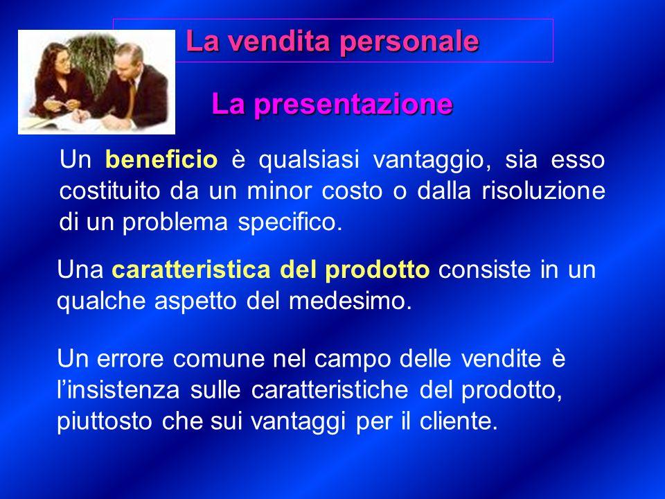 La presentazione Un beneficio è qualsiasi vantaggio, sia esso costituito da un minor costo o dalla risoluzione di un problema specifico.