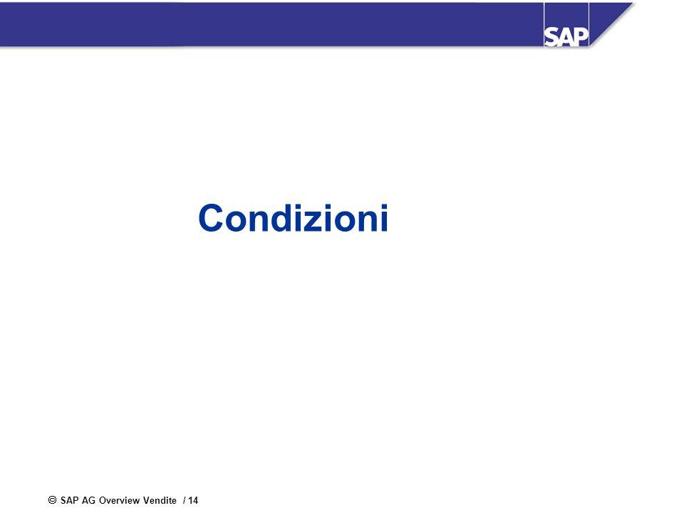 SAP AG Overview Vendite / 14 Condizioni