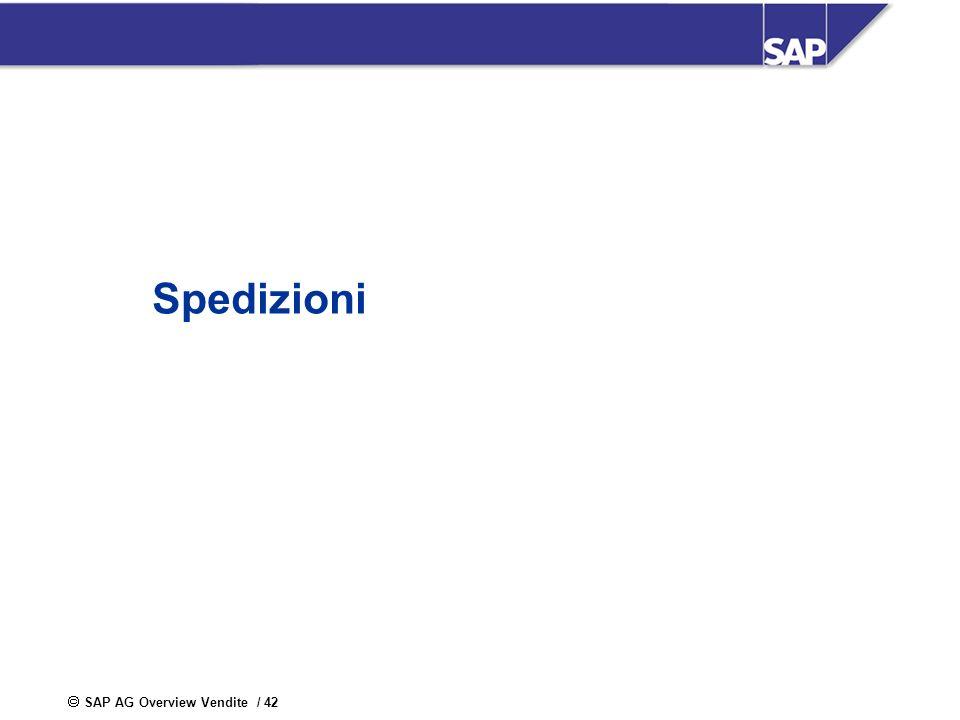 SAP AG Overview Vendite / 42 Spedizioni