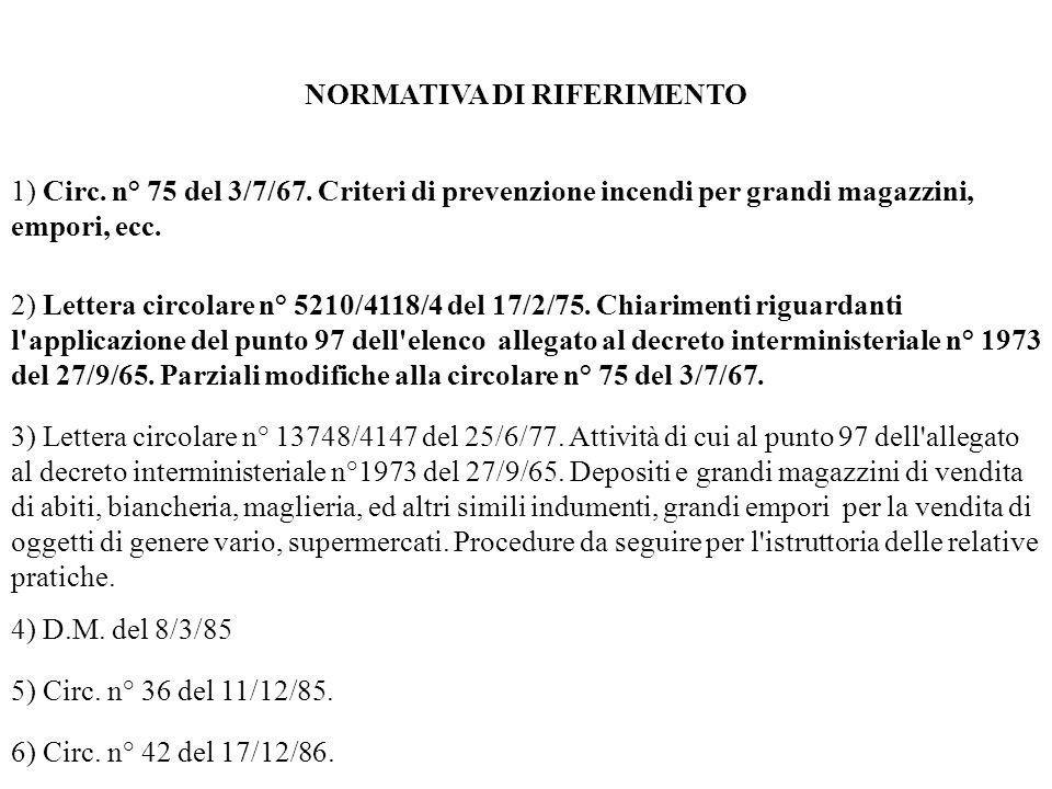 7) Lett.Circ. n° 22864/4134 del 16/12/88. 8) Lettera circolare n° 21723/4122 del 13/12/90.