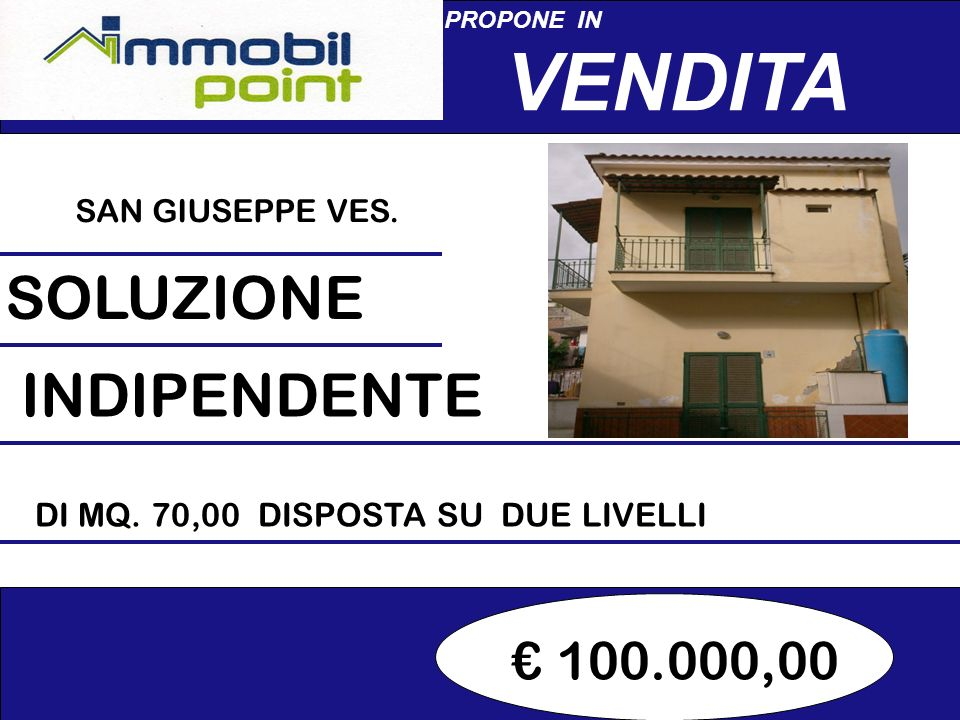 140.000,00 PROPONE IN VENDITA PALMA CAMPANIA SOLUZIONE INDIPENDENTE DI MQ.