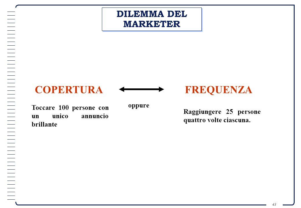 42...costruire la fiducia attraverso la frequenza... È necessario essere: Personali; Pertinenti; Specifici; Attesi. Lattesa è meglio dellaspettativa …
