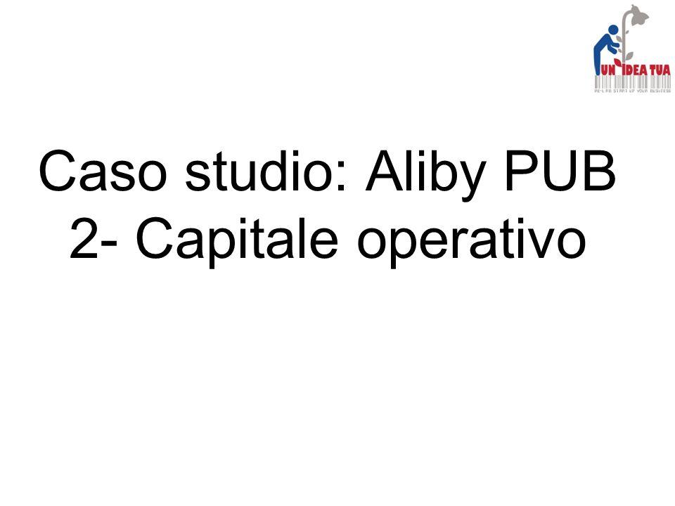 Caso studio: Aliby PUB 2- Capitale operativo