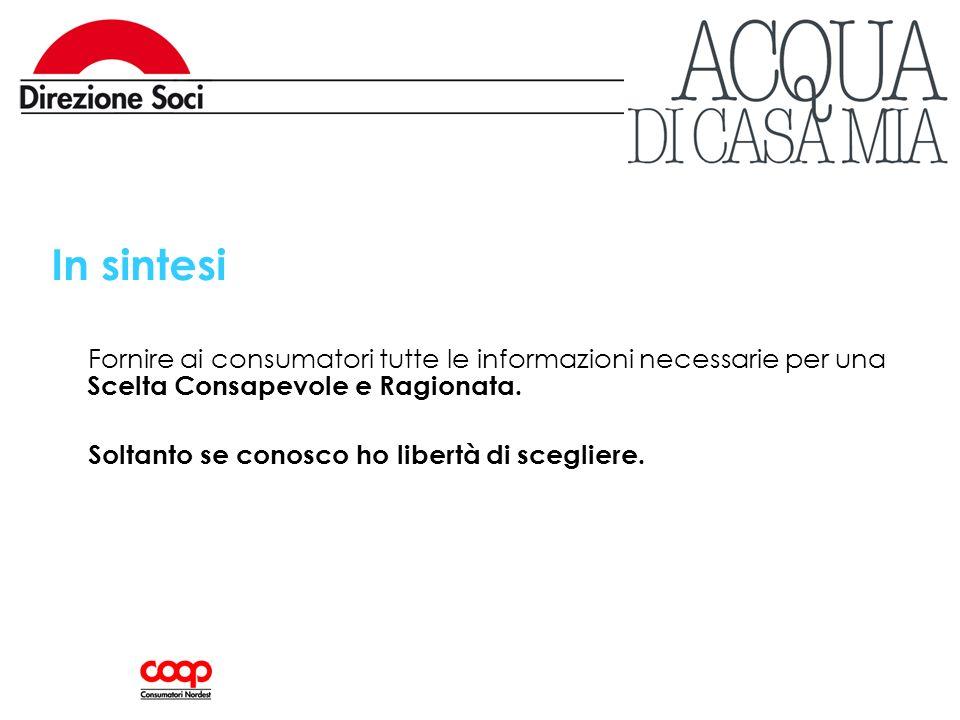 In sintesi Fornire ai consumatori tutte le informazioni necessarie per una Scelta Consapevole e Ragionata.