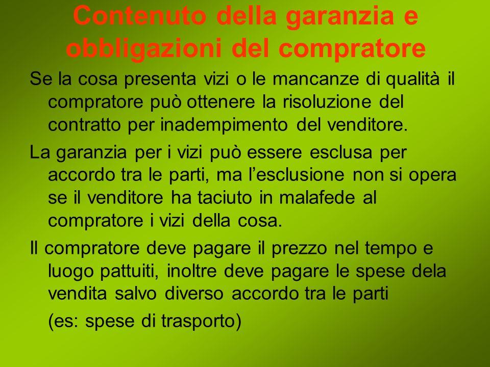 Le garanzie per lalienazione dei beni di consumo Lalienazione dei beni di consumo è soggetta a una serie di regole particolari, dettate a garanzia del consumatore (artt.