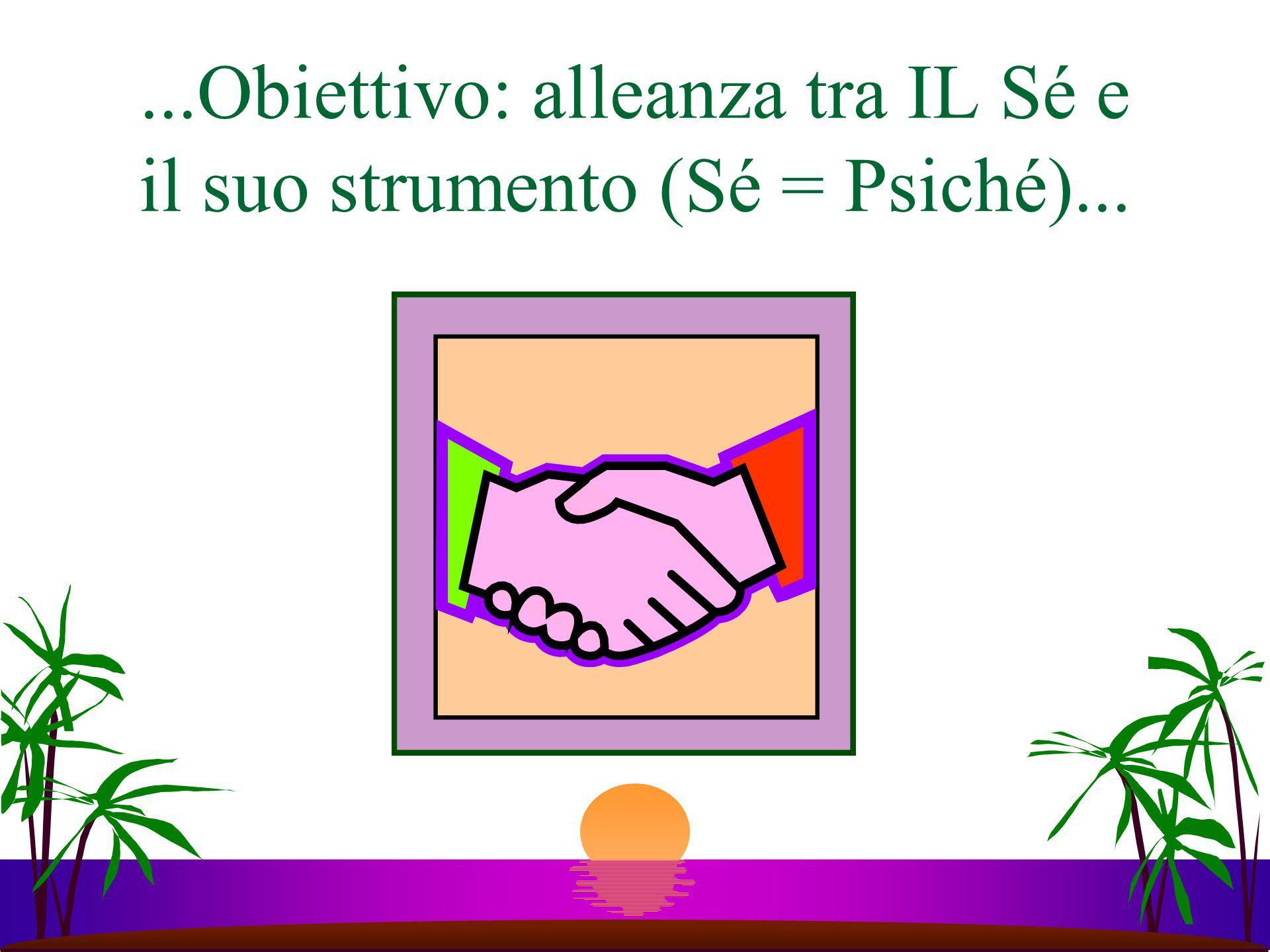 ...Obiettivo: alleanza tra IL Sé e il suo strumento (Sé = Psiché)...
