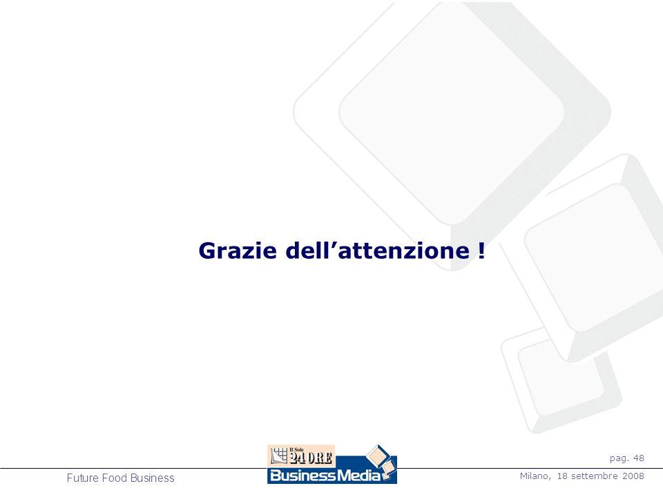 pag. 48 Milano, 18 settembre 2008 Future Food Business Grazie dellattenzione !