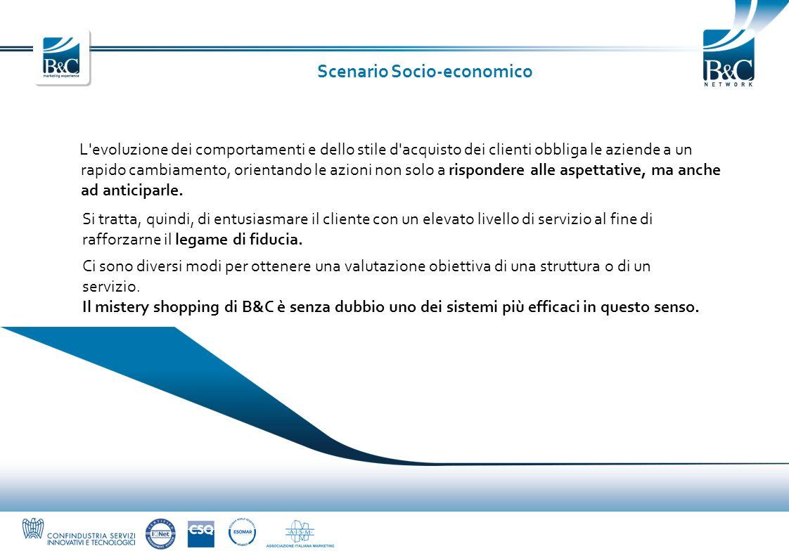 Scenario Socio-economico L'evoluzione dei comportamenti e dello stile d'acquisto dei clienti obbliga le aziende a un rapido cambiamento, orientando le