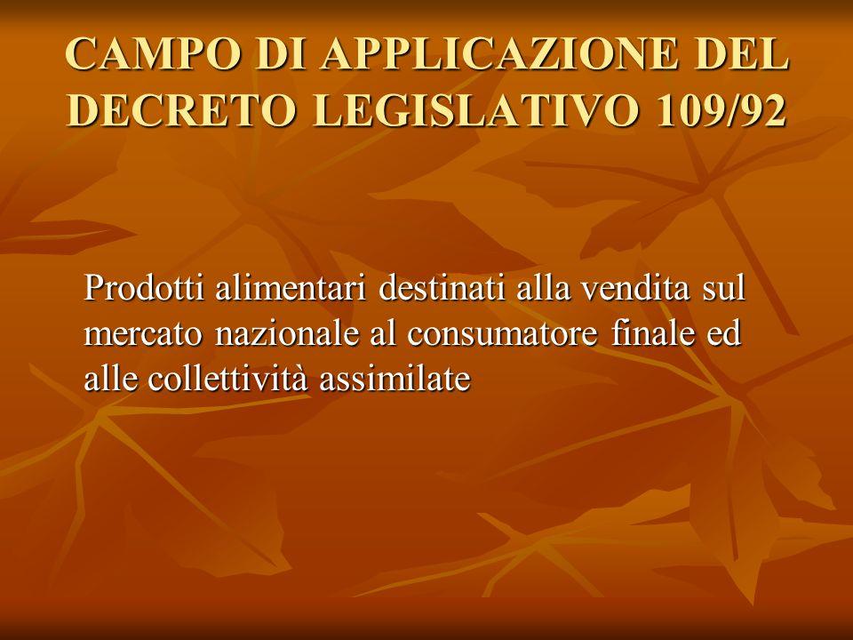 PREINCARTI Unità di vendita costituita da un prodotto alimentare e dallinvolucro nel quale è stato posto o avvolto negli esercizi di venita.