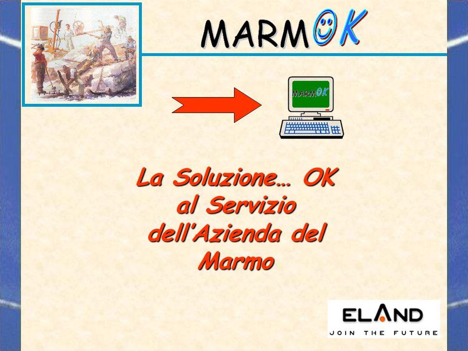 La Soluzione… OK al Servizio dellAzienda del Marmo