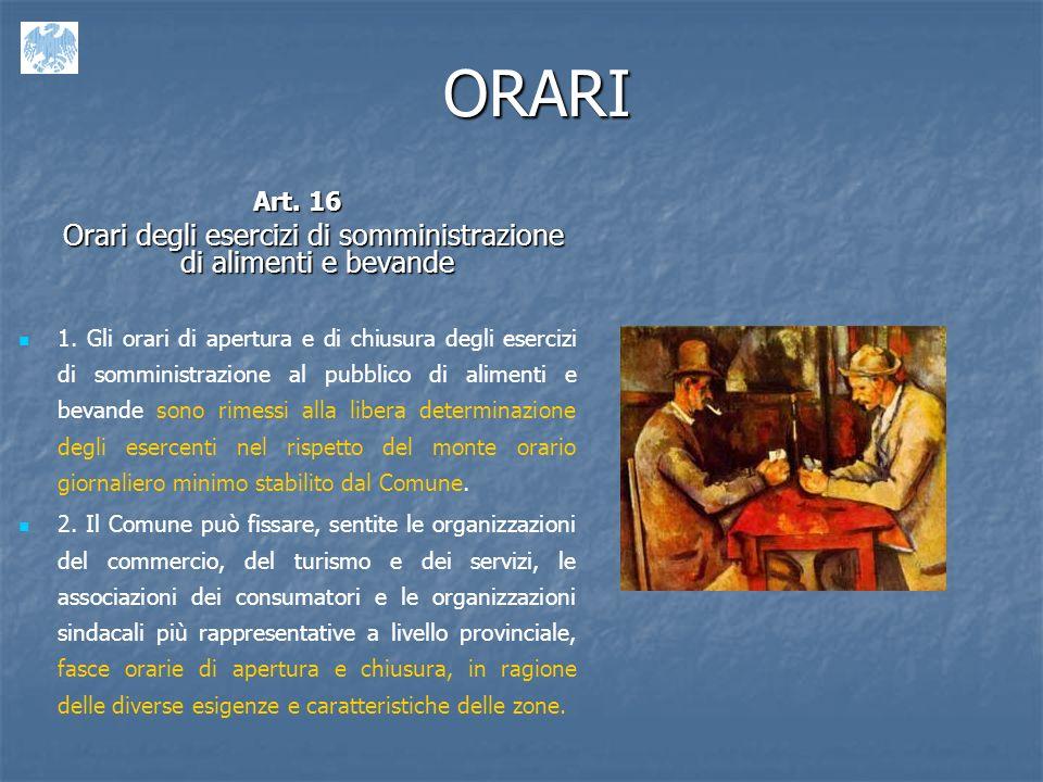 ORARI Art.