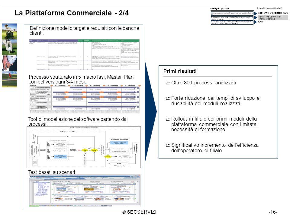 -16-© SECSERVIZI Processo strutturato in 5 macro fasi, Master Plan con delivery ogni 3-4 mesi: Definizione modello target e requisiti con le banche cl