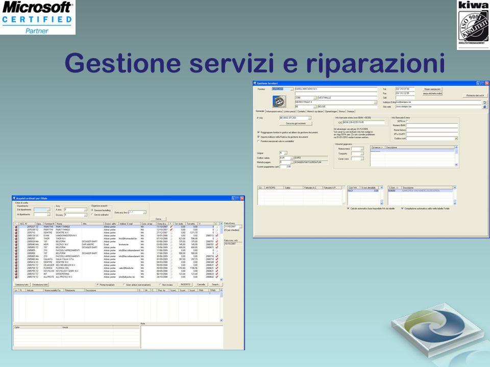 Gestione servizi e riparazioni